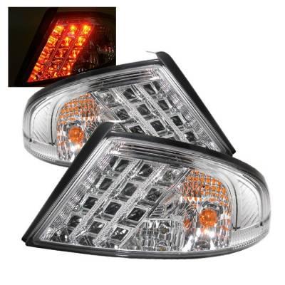 Headlights & Tail Lights - Tail Lights - Spyder - Dodge Stratus 4DR Spyder LED Taillights - Chrome - 111-DSTR01-LED-C