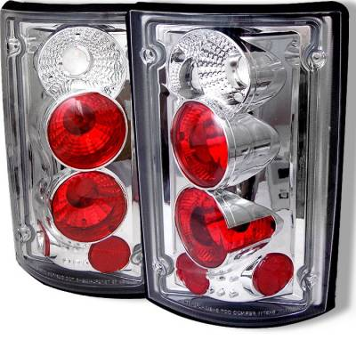 Headlights & Tail Lights - Tail Lights - Spyder - Ford Excursion Spyder Euro Style Taillights - Chrome - 111-FEC00-C