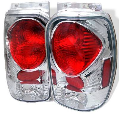 Headlights & Tail Lights - Tail Lights - Spyder - Mercury Mountaineer Spyder Euro Style Taillights - Chrome - 111-FEXP98-C