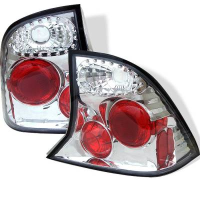 Headlights & Tail Lights - Tail Lights - Spyder - Ford Focus 4DR Spyder Euro Style Taillights - Chrome - 111-FF00-4D-C