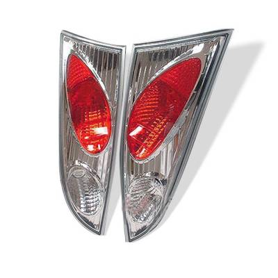 Headlights & Tail Lights - Tail Lights - Spyder - Ford Focus Spyder Euro Style Taillights - Chrome - 111-FF00-5D-C