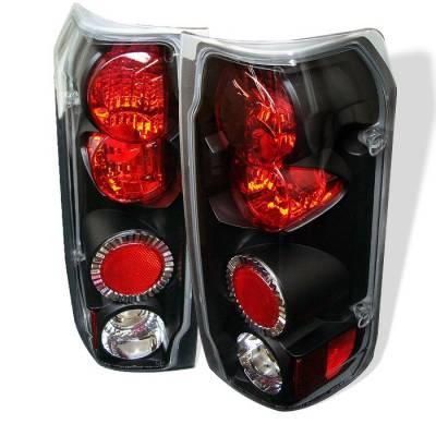 Headlights & Tail Lights - Tail Lights - Spyder - Ford Bronco Spyder Euro Style Taillights - Black - 111-FF15089-BK