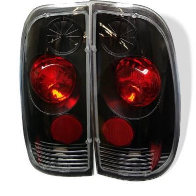Headlights & Tail Lights - Tail Lights - Spyder - Ford F350 Superduty Spyder Euro Style Taillights - Black - 111-FF15097-BK