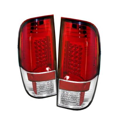 Headlights & Tail Lights - Tail Lights - Spyder - Ford F350 Superduty Spyder LED Taillights - Red Clear - 111-FS07-LED-RC