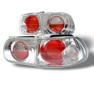 Spyder. - Honda Civic HB Spyder Euro Style Taillights - Chrome - 111-HC92-3D-C