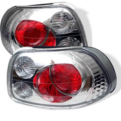 Headlights & Tail Lights - Tail Lights - Spyder - Honda Del Sol Spyder Euro Style Taillights - Chrome - 111-HDS93-C