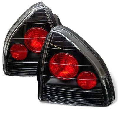 Headlights & Tail Lights - Tail Lights - Spyder - Honda Prelude Spyder Euro Style Taillights - Black - 111-HP92-BK