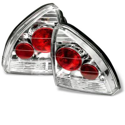 Headlights & Tail Lights - Tail Lights - Spyder - Honda Prelude Spyder Euro Style Taillights - Chrome - 111-HP92-C