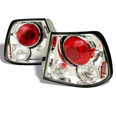 Headlights & Tail Lights - Tail Lights - Spyder - Hyundai Accent HB Spyder Euro Style Taillights - Chrome - 111-HYA00-C