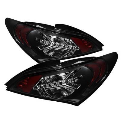 Headlights & Tail Lights - Tail Lights - Spyder - Hyundai Genesis Spyder LED Taillights - Black - 111-HYGEN09-LED-BK