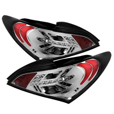 Headlights & Tail Lights - Tail Lights - Spyder - Hyundai Genesis Spyder LED Taillights - Chrome - 111-HYGEN09-LED-C