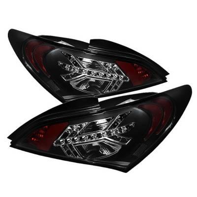 Headlights & Tail Lights - Tail Lights - Spyder Auto - Hyundai Genesis Spyder LED Taillights - Black - 111-HYGEN09-LED-SM