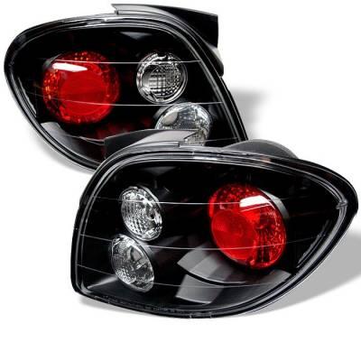 Headlights & Tail Lights - Tail Lights - Spyder - Hyundai Tiburon Spyder Euro Style Taillights - Black - 111-HYT00-BK