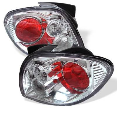 Headlights & Tail Lights - Tail Lights - Spyder - Hyundai Tiburon Spyder Euro Style Taillights - Chrome - 111-HYT00-C