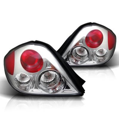 Headlights & Tail Lights - Tail Lights - Spyder - Hyundai Tiburon Spyder Euro Style Taillights - Chrome - 111-HYT03-C