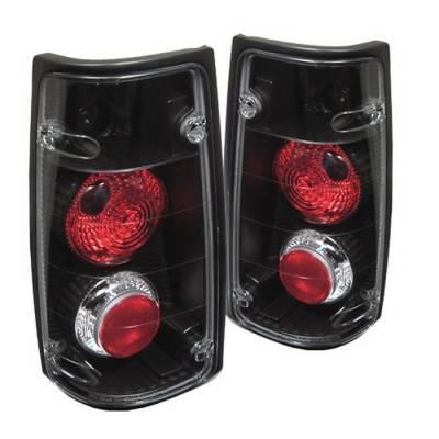 Headlights & Tail Lights - Tail Lights - Spyder - Isuzu Rodeo Spyder Euro Style Taillights - Black - 111-IR91-BK
