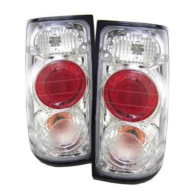 Headlights & Tail Lights - Tail Lights - Spyder - Isuzu Rodeo Spyder Euro Style Taillights - Chrome - 111-IR91-C