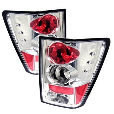 Headlights & Tail Lights - Tail Lights - Spyder - Jeep Grand Cherokee Spyder Euro Style Taillights - Chrome - 111-JGC05-C