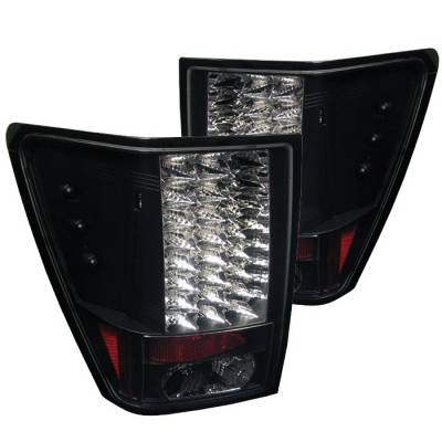 Headlights & Tail Lights - Tail Lights - Spyder Auto - Jeep Grand Cherokee Spyder LED Taillights - Black - 111-JGC05-C