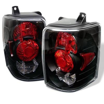 Headlights & Tail Lights - Tail Lights - Spyder - Jeep Grand Cherokee Spyder Euro Style Taillights - Black - 111-JGC93-BK