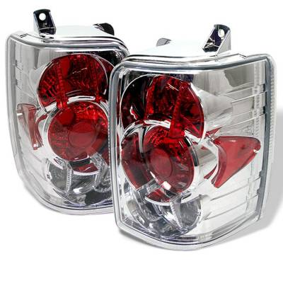 Headlights & Tail Lights - Tail Lights - Spyder - Jeep Grand Cherokee Spyder Euro Style Taillights - Chrome - 111-JGC93-C