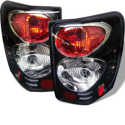 Headlights & Tail Lights - Tail Lights - Spyder - Jeep Grand Cherokee Spyder Euro Style Taillights - Black - 111-JGC99-BK