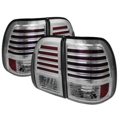 Headlights & Tail Lights - Tail Lights - Spyder - Lexus LX Spyder LED Taillights - Chrome - 111-LLX47003-LED-C