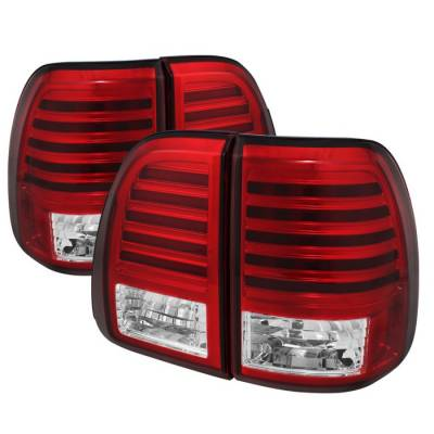 Headlights & Tail Lights - Tail Lights - Spyder - Lexus LX Spyder LED Taillights - Red Clear - 111-LLX47003-LED-RC