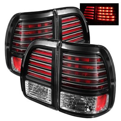 Headlights & Tail Lights - Tail Lights - Spyder - Lexus LX Spyder LED Taillights - Black - 111-LLX47098-LED-BK