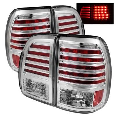 Headlights & Tail Lights - Tail Lights - Spyder - Lexus LX Spyder LED Taillights - Chrome - 111-LLX47098-LED-C