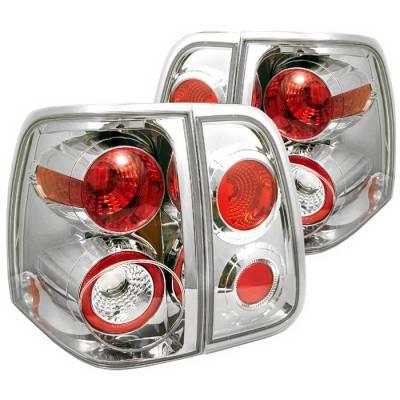 Headlights & Tail Lights - Tail Lights - Spyder Auto - Lincoln Navigator Spyder Altezza Taillights - Chrome - 111-LREV12-LED-SM