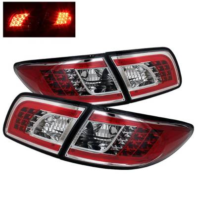Spyder. - Mazda 6 Spyder LED Taillights - Chrome - 111-M603-LED-C