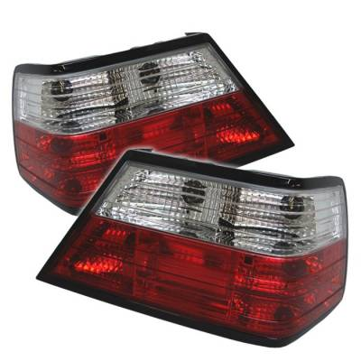 Headlights & Tail Lights - Tail Lights - Spyder - Mercedes-Benz E Class Spyder Crystal Taillights - Red Clear - 111-MBZE86-CRY-RC