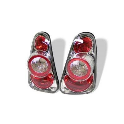 Headlights & Tail Lights - Tail Lights - Spyder - Mini Cooper Spyder Euro Style Taillights - Chrome - 111-MC02-C
