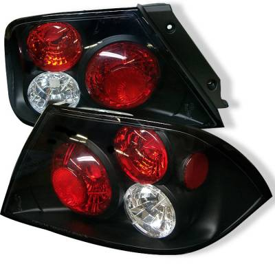 Headlights & Tail Lights - Tail Lights - Spyder - Mitsubishi Lancer Spyder Euro Style Taillights - Black - 111-ML02-BK