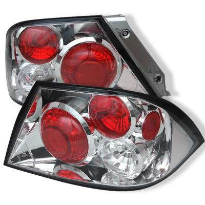 Headlights & Tail Lights - Tail Lights - Spyder - Mitsubishi Lancer Spyder Euro Style Taillights - Chrome - 111-ML02-C
