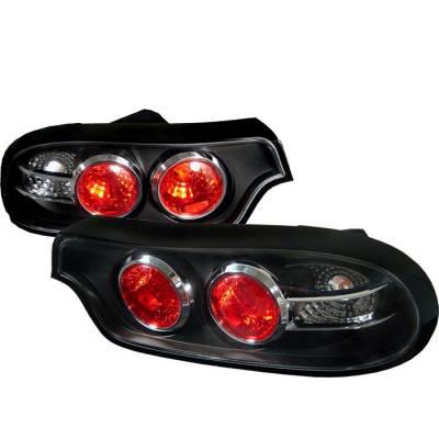Headlights & Tail Lights - Tail Lights - Spyder - Mazda RX-7 Spyder Euro Style Taillights - Black - 111-MRX793-BK