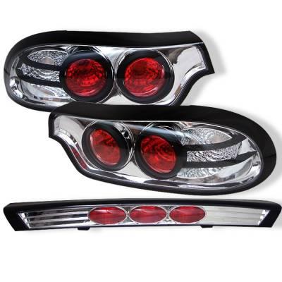 Headlights & Tail Lights - Tail Lights - Spyder - Mazda RX-7 Spyder Euro Style Taillights - Chrome - 111-MRX793-C