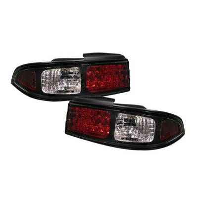 Headlights & Tail Lights - Tail Lights - Spyder - Nissan 240SX Spyder LED Taillights - Black - 111-N240SX95-LED-BK