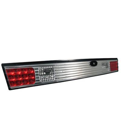 Headlights & Tail Lights - Tail Lights - Spyder - Nissan 240SX Spyder LED Trunk Taillights - Chrome - 111-N240SX95-TR-LED-C