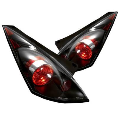 Headlights & Tail Lights - Tail Lights - Spyder - Nissan 350Z Spyder Euro Style Taillights - Black - 111-N350Z02-BK
