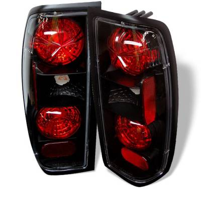 Headlights & Tail Lights - Tail Lights - Spyder - Nissan Frontier Spyder Euro Style Taillights - Black - 111-NF98-BK