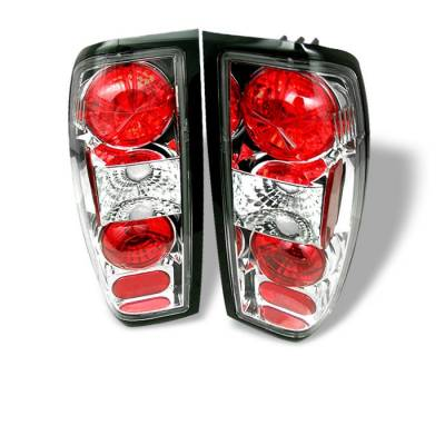 Headlights & Tail Lights - Tail Lights - Spyder - Nissan Frontier Spyder Euro Style Taillights - Chrome - 111-NF98-C