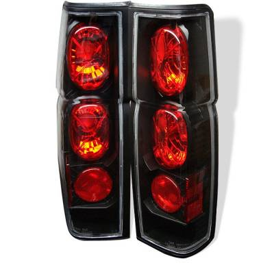 Headlights & Tail Lights - Tail Lights - Spyder - Nissan Pickup Spyder Euro Style Taillights - Black - 111-NH86-BK