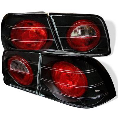 Headlights & Tail Lights - Tail Lights - Spyder - Nissan Maxima Spyder Euro Style Taillights - Black - 111-NM95-BK
