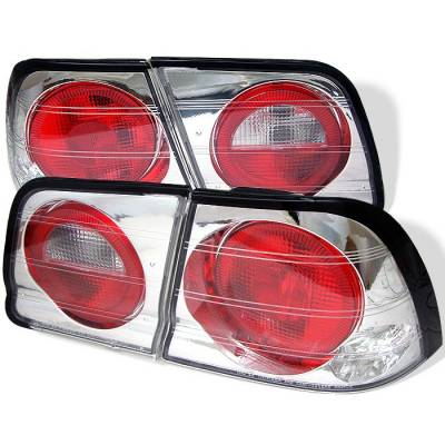 Headlights & Tail Lights - Tail Lights - Spyder - Nissan Maxima Spyder Euro Style Taillights - Chrome - 111-NM95-C