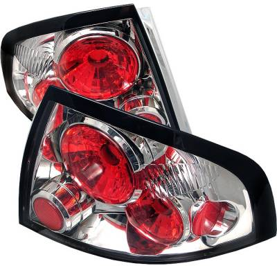 Headlights & Tail Lights - Tail Lights - Spyder - Nissan Sentra Spyder Euro Style Taillights - Chrome - 111-NS00-C