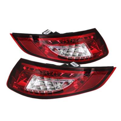 Headlights & Tail Lights - Tail Lights - Spyder - Porsche 911 Spyder LED Taillights - Red Clear - 111-P99705-LED-RC