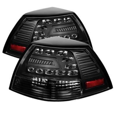 Headlights & Tail Lights - Tail Lights - Spyder - Pontiac G8 Spyder LED Taillights - Black - 111-PG808-LED-BK