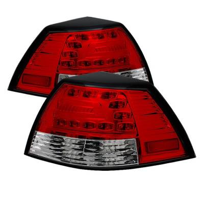 Headlights & Tail Lights - Tail Lights - Spyder - Pontiac G8 Spyder LED Taillights - Red Clear - 111-PG808-LED-RC
